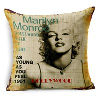 Wholesale Marilyn Monroe cotton sofa cushion cover pillow case without pillow