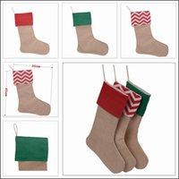 Wholesale 2016 Kids Favourite Christmas Stocking Canvas Christmas Socks Gift Bags Colors Decorative Socks Candy Bags Size30 cm