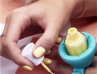 Wholesale Soft Silicone Finger Wearable Nail Gel Polish Bottle Holder color Creative Nail Art Tools Polish Bottle Display Stand Holder jy499