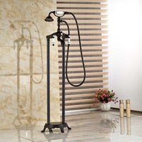 bath tub faucets bronze - Oil Rubbed Bronze Free Standing Claw foot Bath Tub Filler Faucet Hand Shower Mixer Taps Floor Mount
