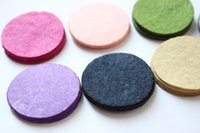 Wholesale 8cm felt circle round fabric pads for DIY hair flower