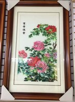 antique chinese scrolls - 2016 Hot sale product Suzhou embroidery for the living room Chinese style home mural Classic fashion