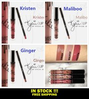 Wholesale IN STOCK Kristen Ginger Maliboo KYLIE JENNER LIP KIT Kylie Matte Liquid Lipstick Lip Liner Kylie lip New Color