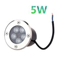 al por mayor ip67 subterránea-5W AC85-265V IP67 impermeabilizan la luz al aire libre del punto de LED para el piso de la trayectoria del suelo del suelo La lámpara enterrada subterráneo de la yarda lampara acero piso