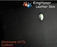 Wholesale KH Laptop Special Carbon Crocodile Snake D Crocodile Leather Cover Sticker Skin Protector For DELL Alienware M17X R1 R2 version
