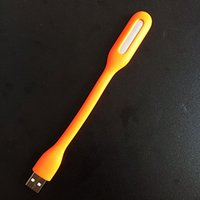 bank platforms - ORANGE UNIVERSAL PORTABLE USB BENDABLE LED LIGHT PC LAPTOP POWER BANK