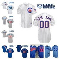 baseball personalized - Men s Personalized Chicago Cubs jerseys stitched Customized NEW gray white blue pullover cheap Custom name and number Cubs baseball jerseys