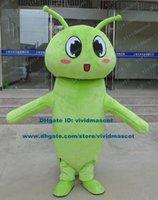 adult caterpillar costume - Childish Green Carpenterworm Caterpillar Bean Worm Bug Mascot Costume Cartoon Character Mascotte Adult Long Tentacles ZZ23 FS