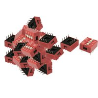 Wholesale mm Pitch Position Slide Style DIP Switches Red