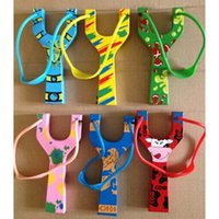 Wholesale 2pcs wood safe slingshots wooden toys outdoor sport for kids children boys girls quality gift handmade craft cartoon printing