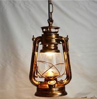 barn lighting fixtures - Eu Barn Lantern nostalgic retro pendant light vintage creative kerosene lamp restaurant bar lantern lamp hanging light fixture