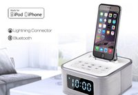 alarms docking stations - Newest S1 pro Multifunction Bluetooth speaker with docking Clock alarm FM tunner Aux in subwoofer charging docking station for iphone6 s