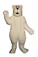 Wholesale Snow White Costume Mascot Fancy - Hot Sale White Arctic Bear Mascot Adult Costume Cartoon Snow Polar Bear Theme Anime Cosply Costumes Carnival Fancy Dress Kits