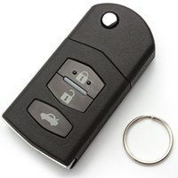 Wholesale 3 Buttons Remote Folding Flip Key Shell Case Fob PAD FOR MAZDA RX8 MX5 B Drop Shipping EA10271