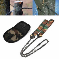 Wholesale Gardening Camouflage Handle Manganese Steel Hand Felling Saw Outdoor Portable Hand Chain Saw