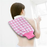 Wholesale Take a Shower Bath Gloves Color Grid More Rubbing Towel Bath Towel bath Towel Two sided Dual use Drop Shipping