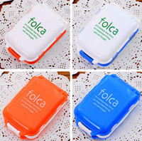 Wholesale Folca Slot Pill Case Medicine Storage Box Compartments Medical Container Storage Case Jewelry Case Easy And Safe plastic case stash