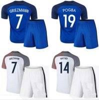 benzema jersey france - Adult kit A Thai quality france white GRIEZMANN BENZEMA POGBA GIROUD jersey france blue football jerseys