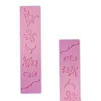 bakery items - New bakery food grade silicone mold decoration cake candy lace printing single cake mold Item No A101DIY rectangular handmade cake lace tur