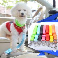 Wholesale 20pcs dog leashes leads Adjustable Car Vehicle Safety Seatbelt Seat Belt Harness Lead for Cat Dog Pet