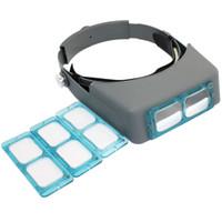 Wholesale New X X X X Optivisor Head Watch Repair Glasses Magnifying Eye Loupe Optical Head Loupe Helmet Magnifier