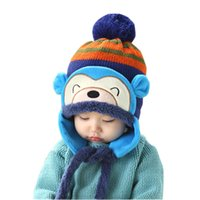 anne babies - Kids Winter Hats Fashion Winter Warm Kid Baby Girl Boy Ear Thick Knit Beanie Cap Hat For Months To Years Anne