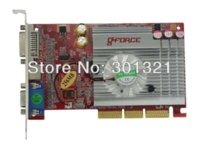 Wholesale 100 New NF GPU FX5200 AGP X X MB BIT S video VGA DVI Graphic Card with tracking number