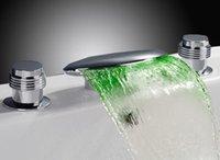 Wholesale bathtub LED faucet color changing led faucet