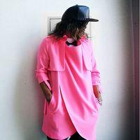 bats trench - Gothic Brand Designer British Style Pink Long Trench Coat Mens Overcoat Casual Unique Men Japanese Windbreaker White Black