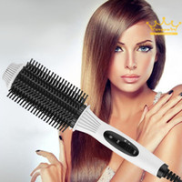 Wholesale Multifunctional in1 Electric Straightener Curler Hair Comb Anti scald Curling Irons Hair Curler Comb Styling Tools Hot