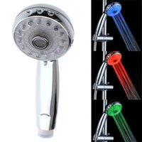 Wholesale LED Chuveiro Ducha Sprinkler Temperature Sensor RGB Color Excellent Corrosion Resistance Rain Shower Power Hotels Shower Head