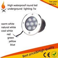 Wholesale 10 High Power W DC12 DC24 V waterproof IP65 LED Underground Lamp Light Waterproof Outdoor Garden round Landscape Lighting Lampadas