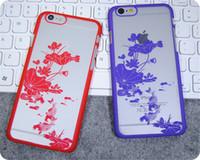 al por mayor piscina de la vendimia-Damasco retro de la piscina de la flor de la vendimia caso duro retro mate de la PC dura translúcida para el iPhone 5 5S SE 6 6S más
