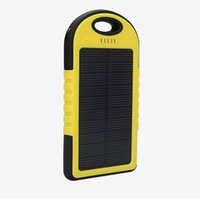 solar flashlight - 5000mAh Solar Charger and Battery Solar Panel Portable for Cell phone Laptop Camera MP4 With Hook Flashlight Waterproof