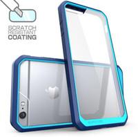 Acheter Pare-chocs 5s transparent-2016 USA supcase Hybride 2 en 1 tpu Bumper Transparent Transparent Couverture arrière pour iPhone 6 6plus 6s 5s SE samsung S6 edge plus Note5