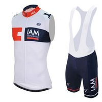 Wholesale 2016 Purchase IAM Sleeveless Cycling Jerseys Set Short With Padded Bib None Bib Trousers Black Fluo Light Green Bicycle Clothes SIZE XL XL