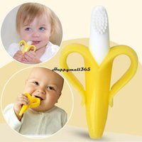 adult teething ring - Cheapest High Quality And Environmentally Safe Baby Teether Teething Ring Banana Silicone Toothbrush New