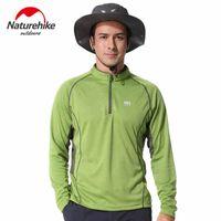 Wholesale New Men T Shirt Mandarin Collar Quick Dry Long Sleeve Breathable Soft Male Sport T Shirts Zipper Men s Suit Jerseys X XXL