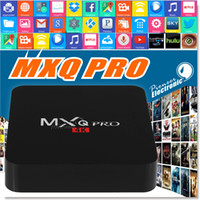 al por mayor hdmi de medios de transmisión-MXQ Pro Android TV Caja Amlogic S905 Chipset Kodi 16,1 Lleno de Android 5.1 Lollipop OS Quad Core 1G / 8G 4K Google Reproductores multimedia en streaming
