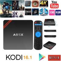 Wholesale Newest Amlogic S905 TV Box A95X Nexbox Android Box G G Quad core G Wifi KODI Smart TV