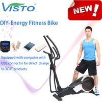 Wholesale Self generating Fitness Bike DIY Energy Fitness Bike fitness equipment elliptical bike DIY Energia bicicleta de gimnasio