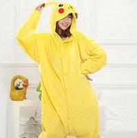 Wholesale Hot pikaqiu Outfit Pajamas Cosplay Costume Pyjamas Onesies Unisex Adult Romper Anime Costumes