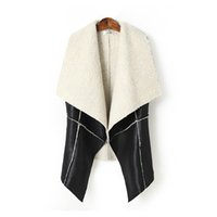 america leather vests - New fashion in Europe and America winter spell slim slim cashmere coat lamb leather vest