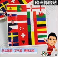Wholesale Waterproof Euro Face Stickers Soccer European Champions Strong Face Stickers Sticker European Football Cup Champions CCA4453