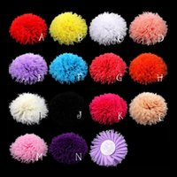artificial flowes - 120pcs quot colors Frayed Chiffon Flowers For Children Hair Accessories Artificial Chic Shabby Fabric Flowes For Headbands