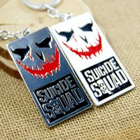 Wholesale Suicide Squad Movie Key Chain Keyring Keychain for Keys Chaveiro Llavero Key Ring Key Holder porte MV071
