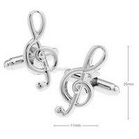 Wholesale Musical Note Cufflinks Unisex Shirt Accessory C00442 BARD