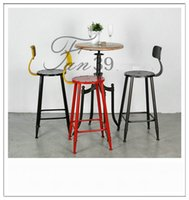 american bar stool - Iron retro bar chairs do the old American and leisure imitation rust highchair high stool reception