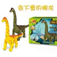 Wholesale Dinosaur toys electric light projection walk will lay eggs dinosaur Brachiosaurus Long necked boys like electronic toys gift