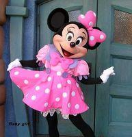 al por mayor la mascota del ratón de color rosa-Traje de la mascota del ratón de Minnie del traje de la mascota de 2017Wedding Minnie libera el envío